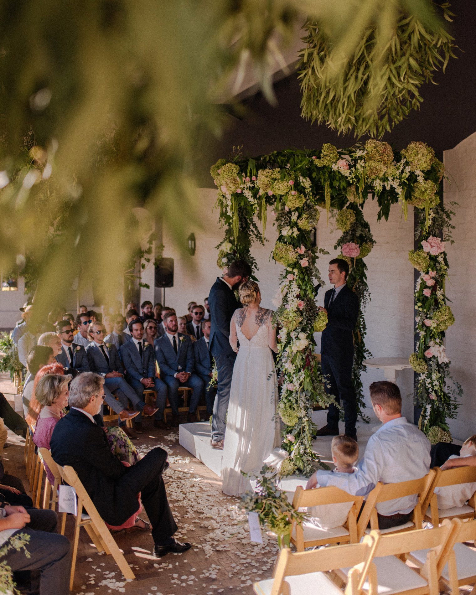 unique wedding ceremony at kronenburg in stellenbosch