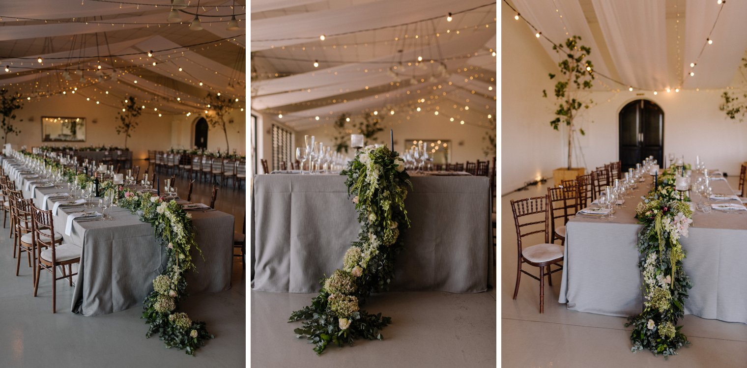 wedding decor at kronenburg in stellenbosch