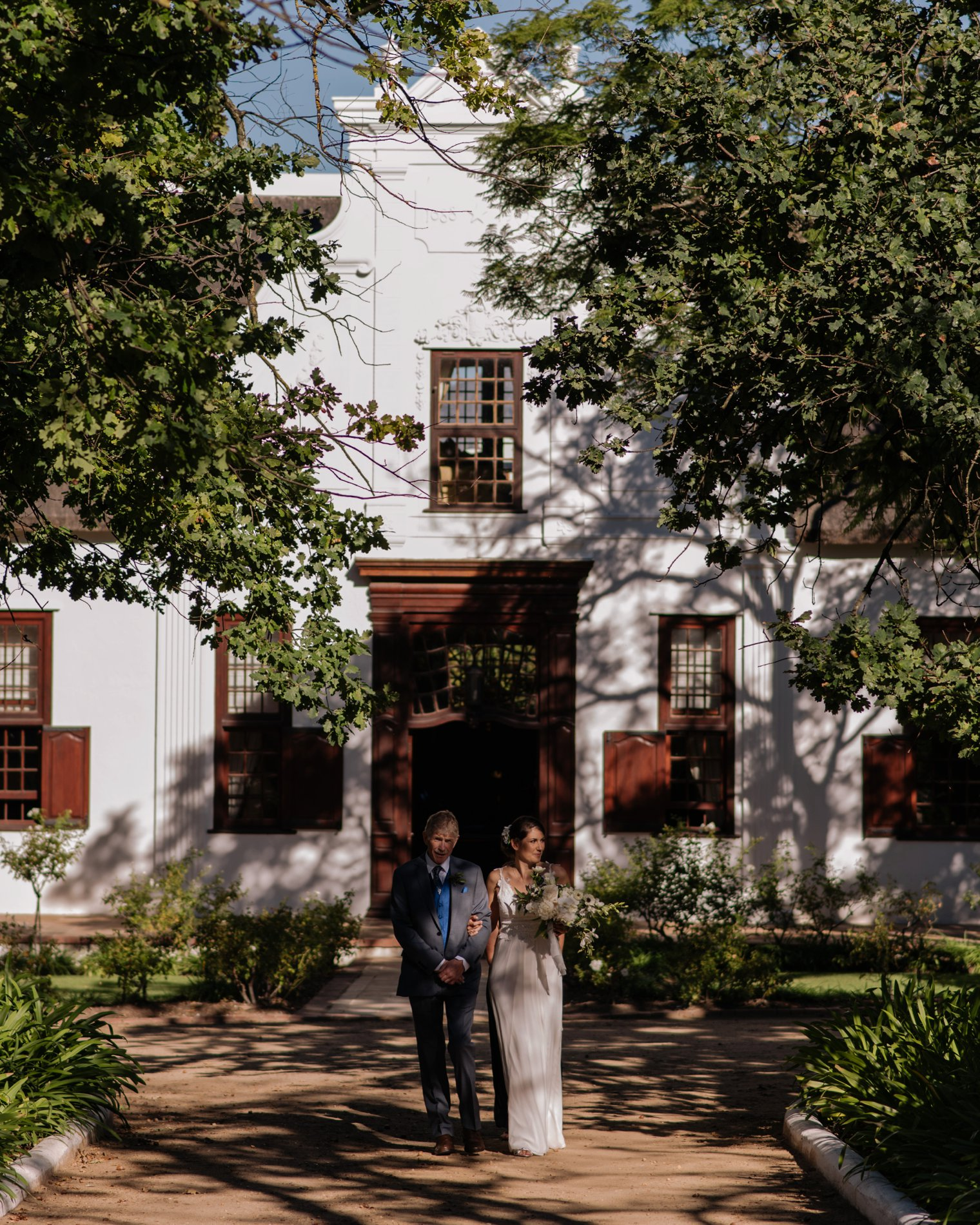 wedding ceremony at vrede en lust estate in stellenbosch