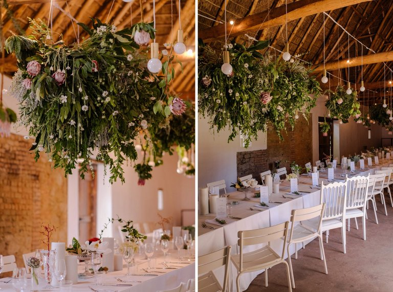 long table wedding reception at babylonstoren