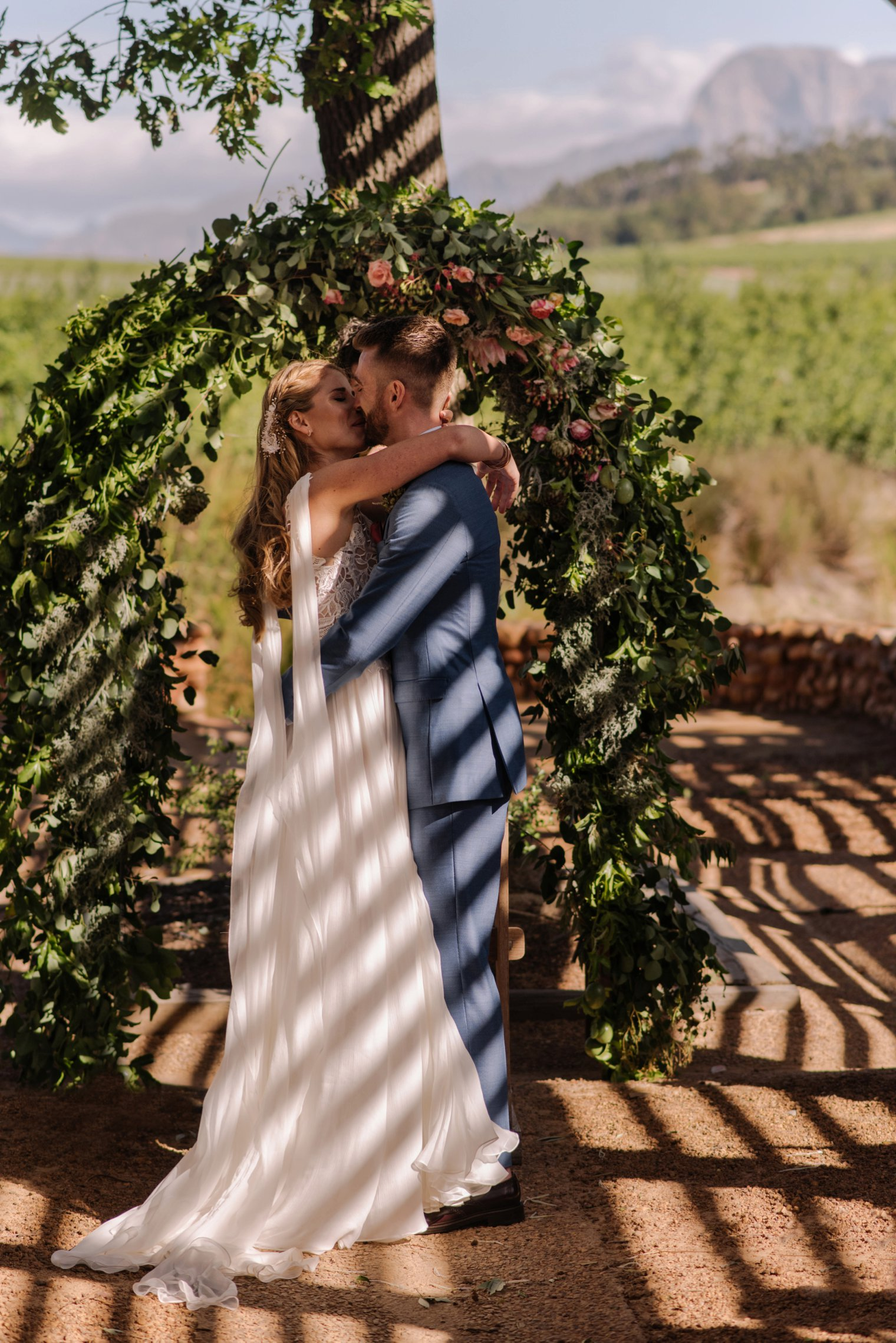 wedding ceremony at babylonstoren in house of shadows