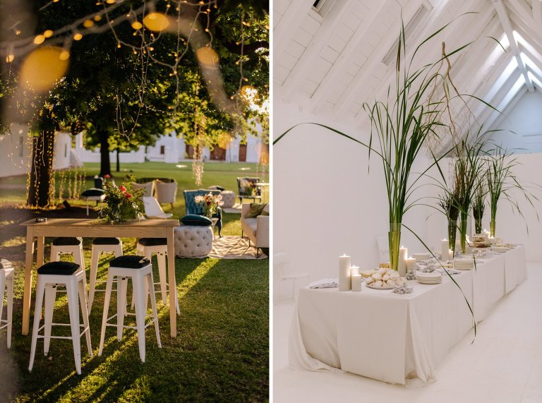 wedding decor at babylonstoren