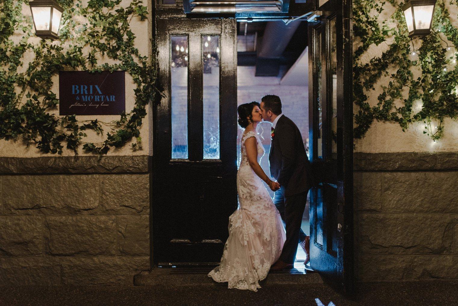 unique brix and mortar wedding
