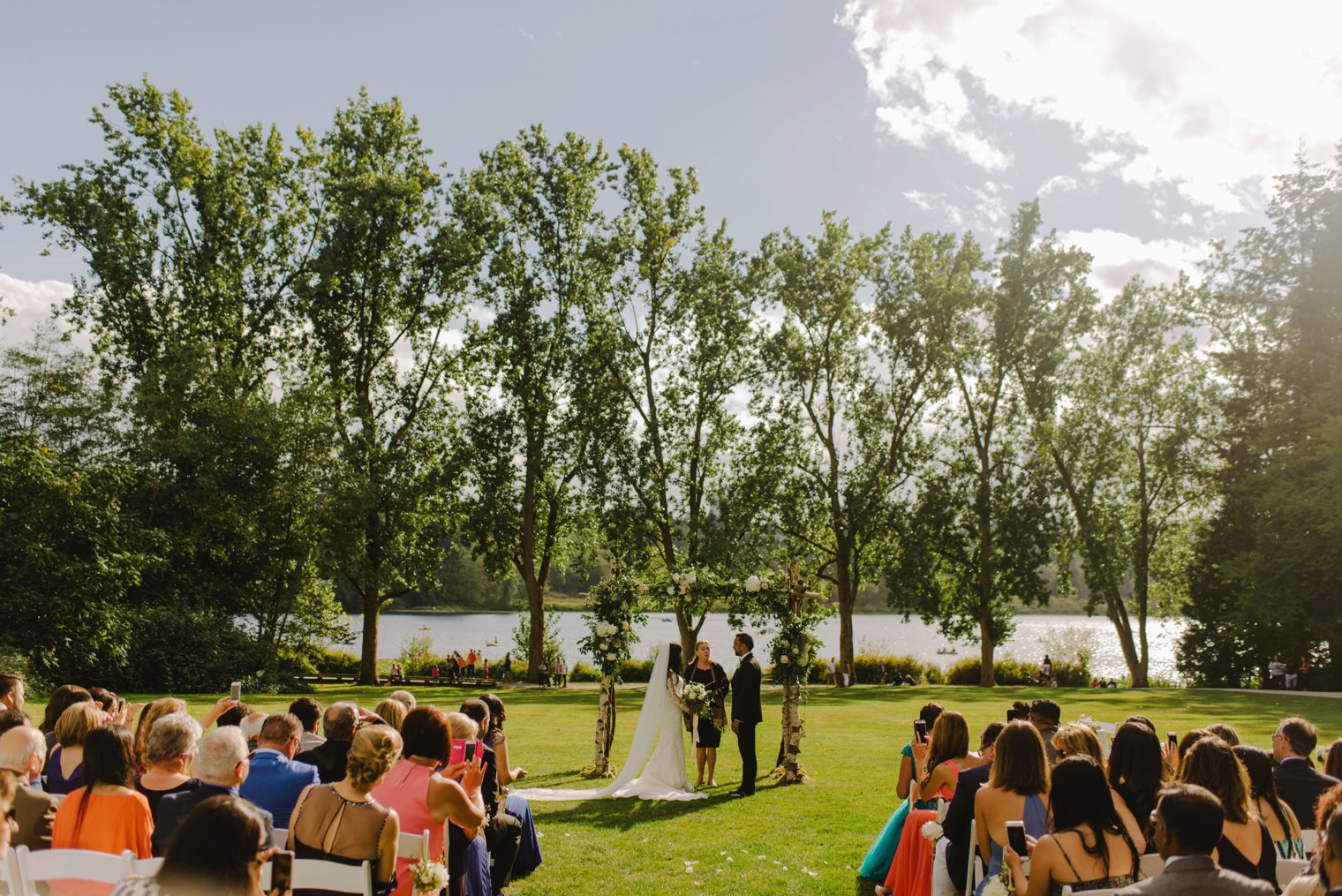 deer lake park wedding