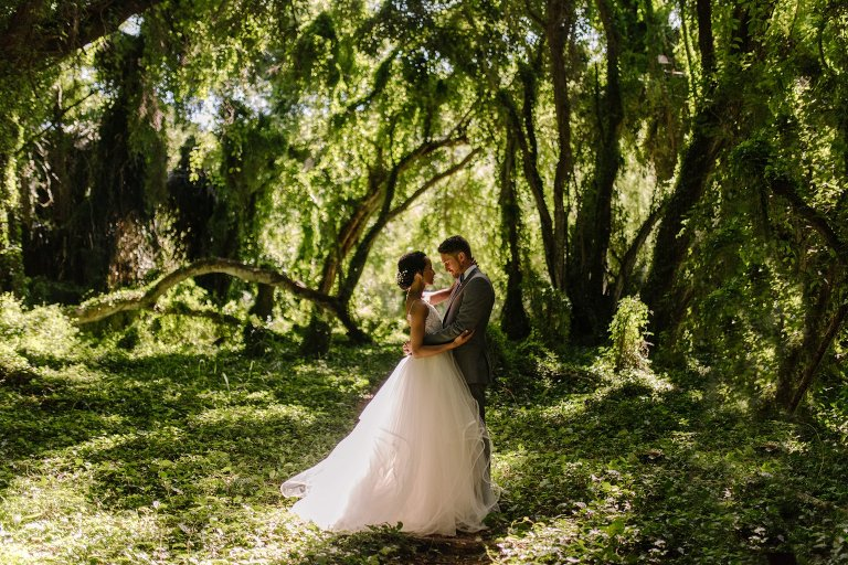 unique wedding photos at honolua bay forest on maui