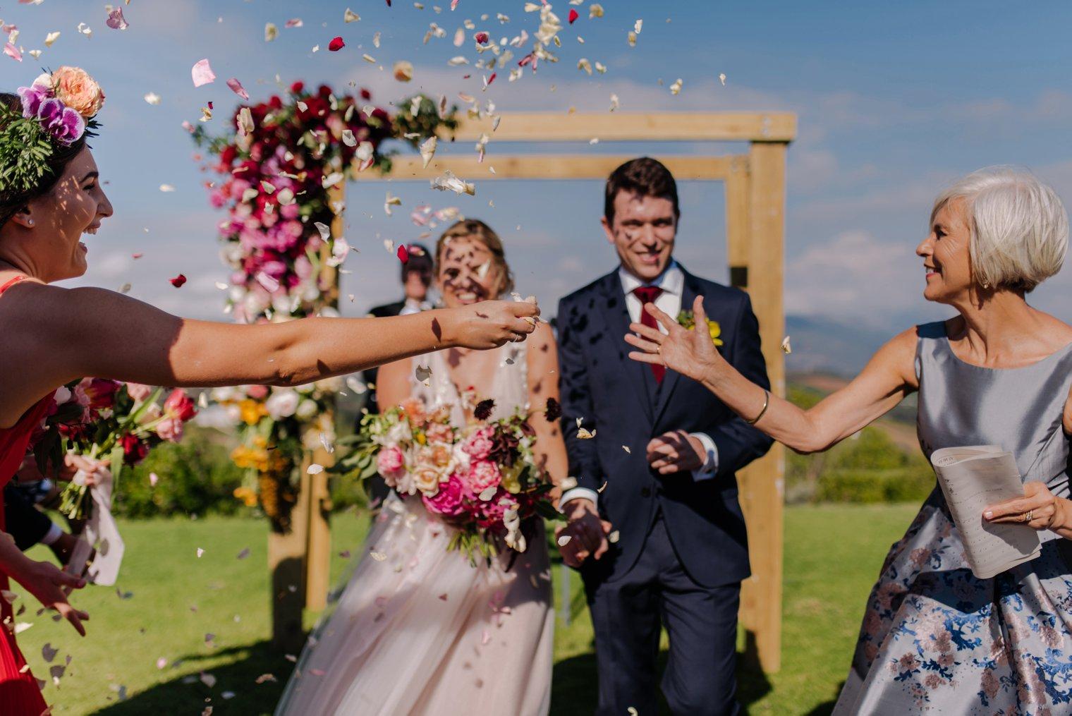 wedding ceremony at landtscap wedding venue in stellenbosch