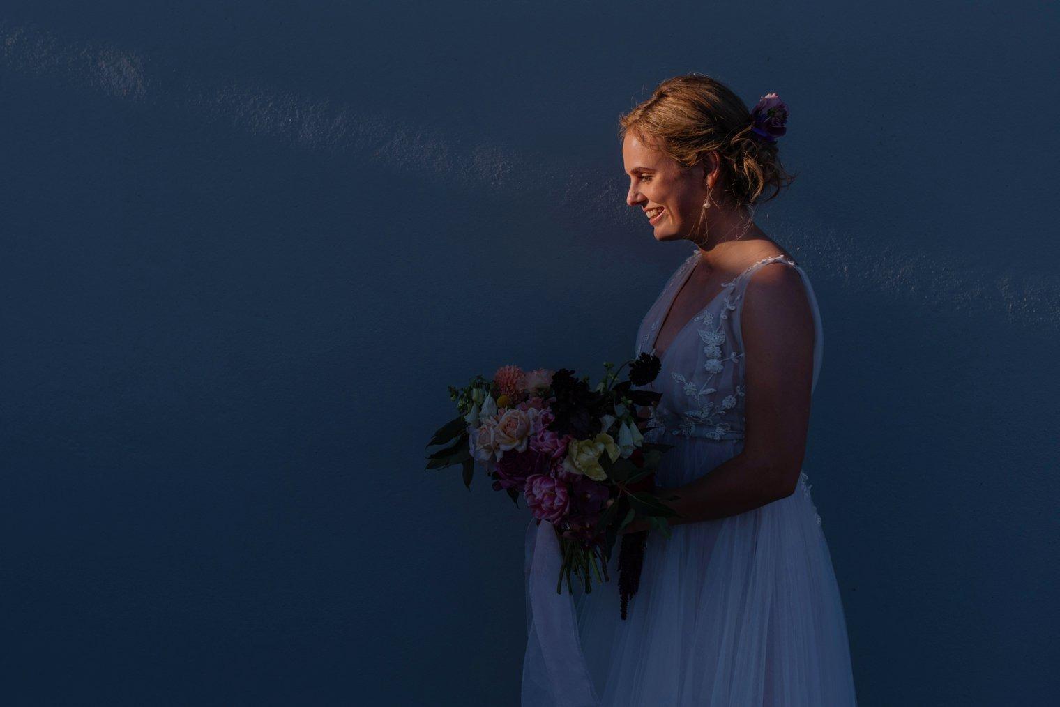 unique wedding photo at landscap in stellenbosch