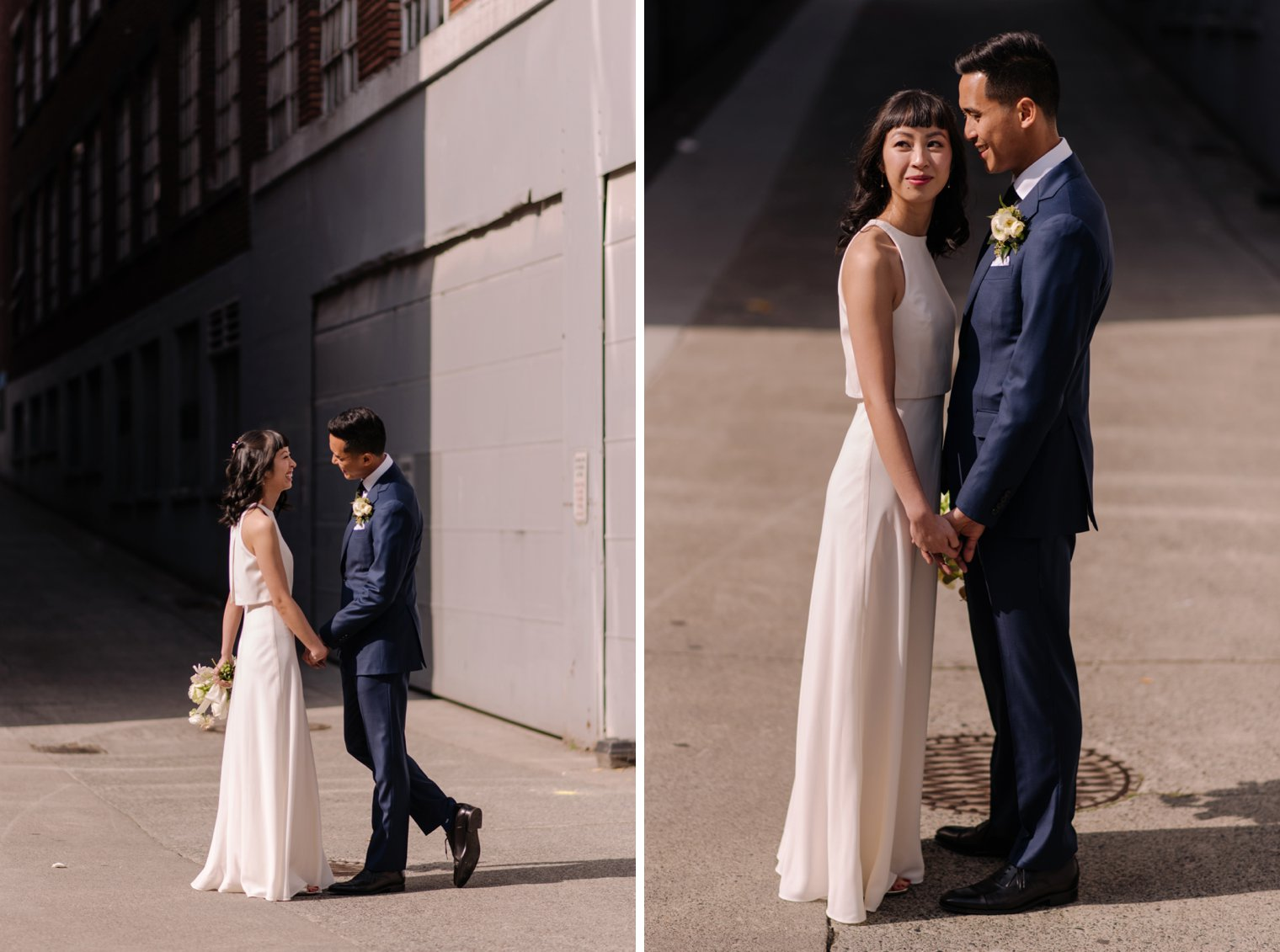 vancouver alley wedding photo