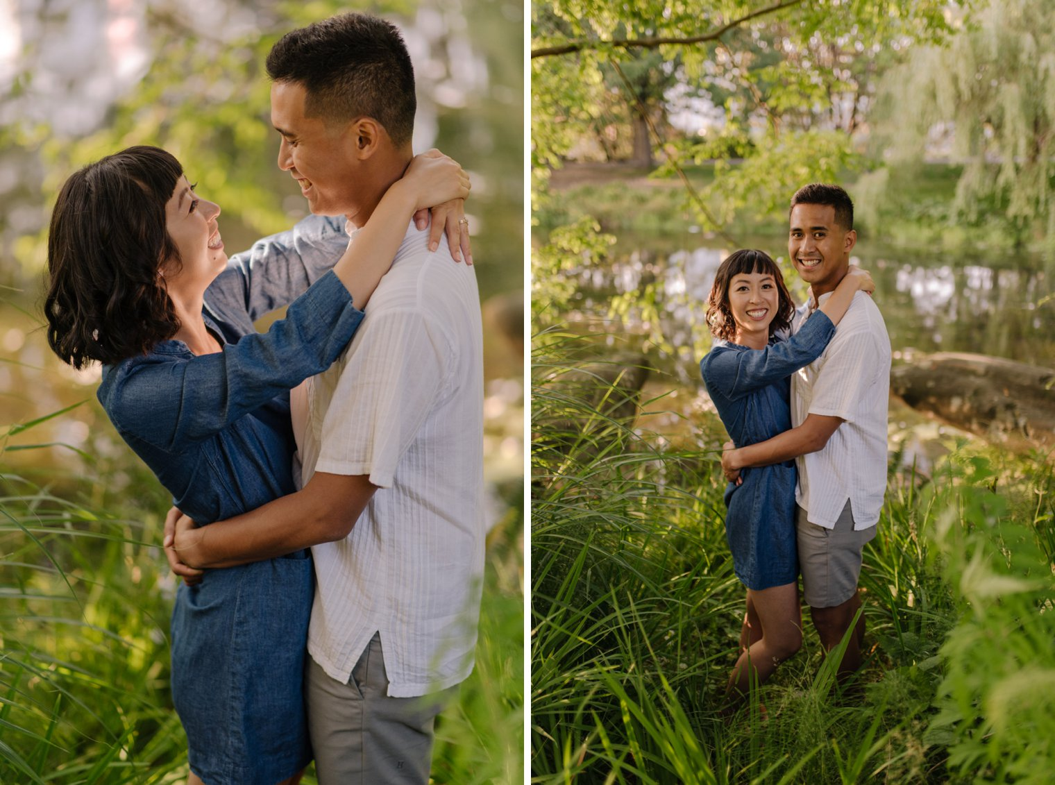 unique false creek engagement photos