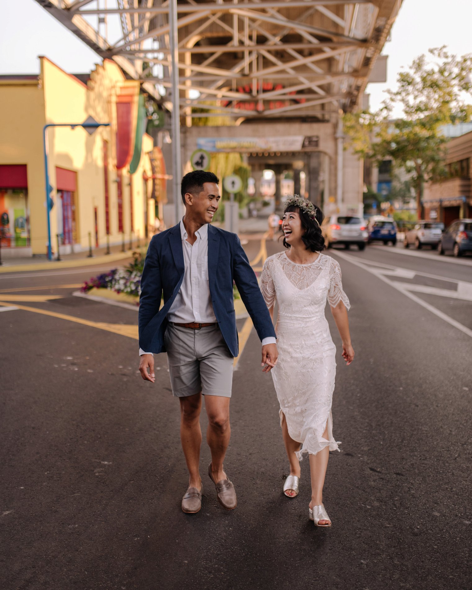 engagement photos on granville island in vancouver