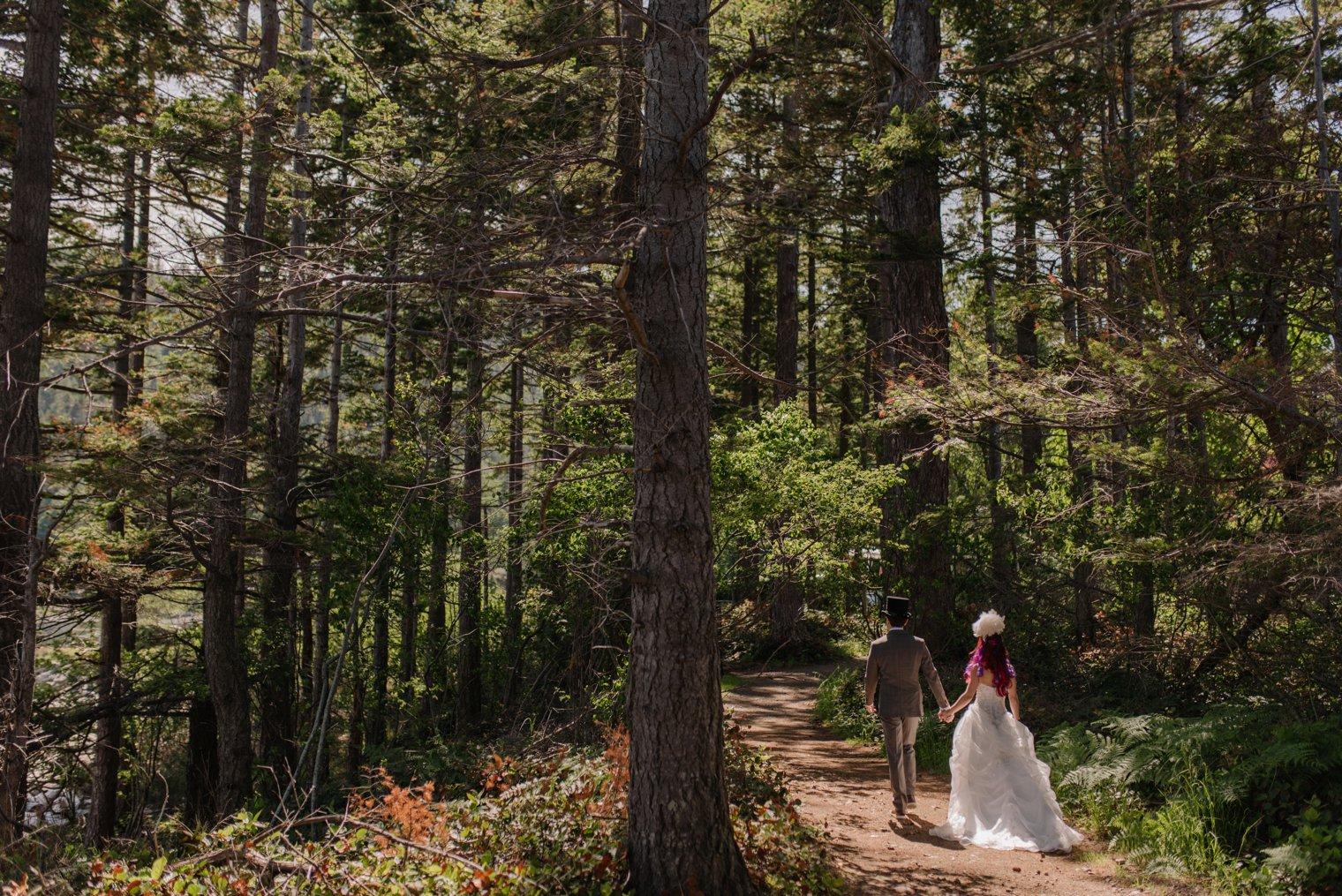 bowen island forest wedding photos