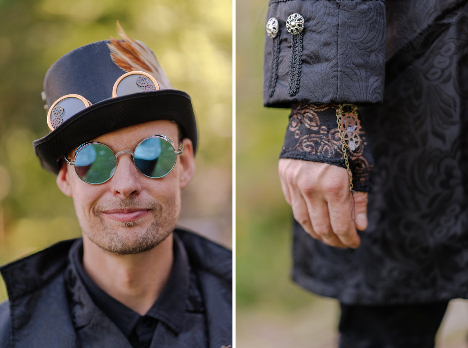 steampunk wedding outfits