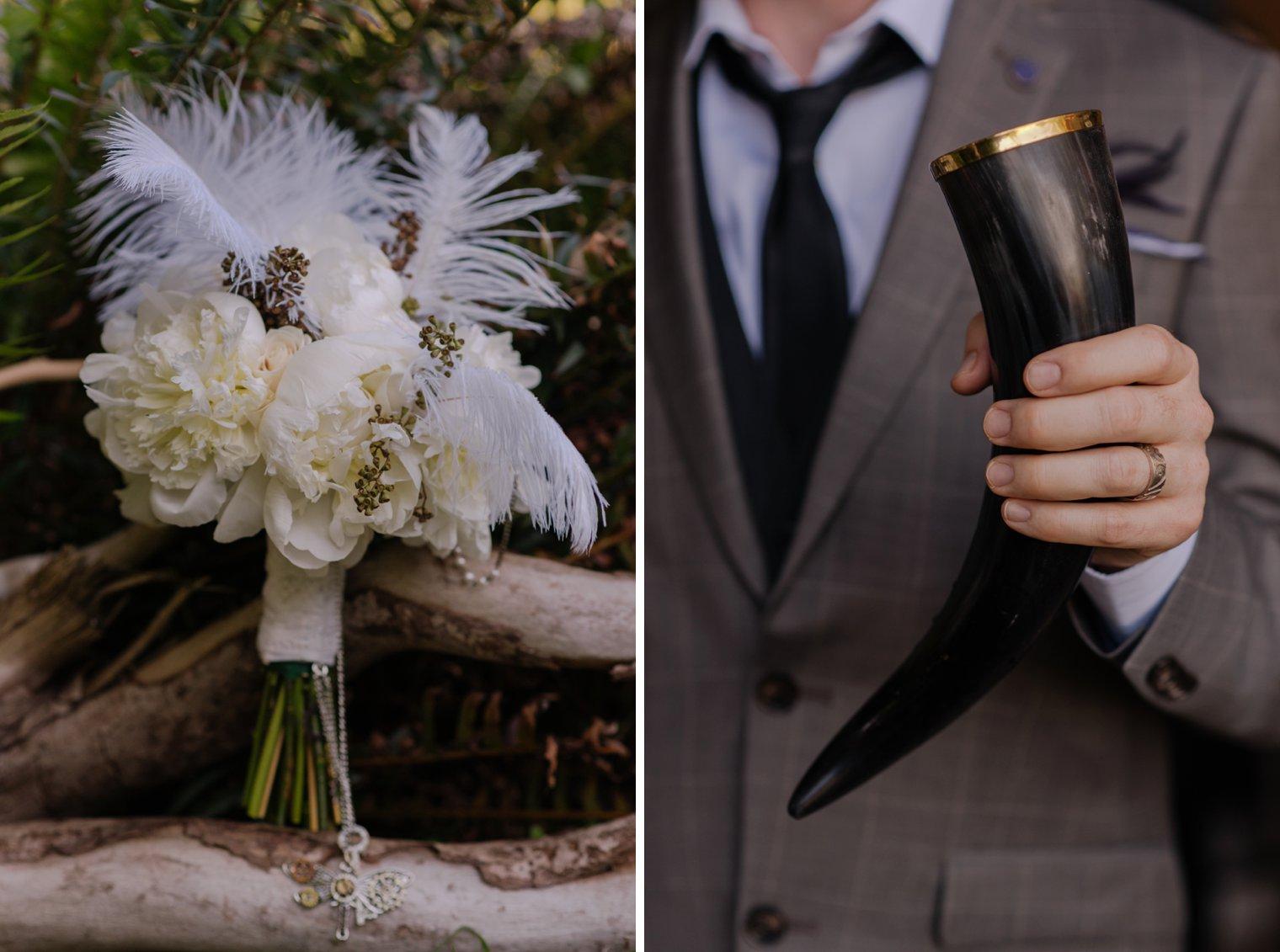 steampunk wedding details