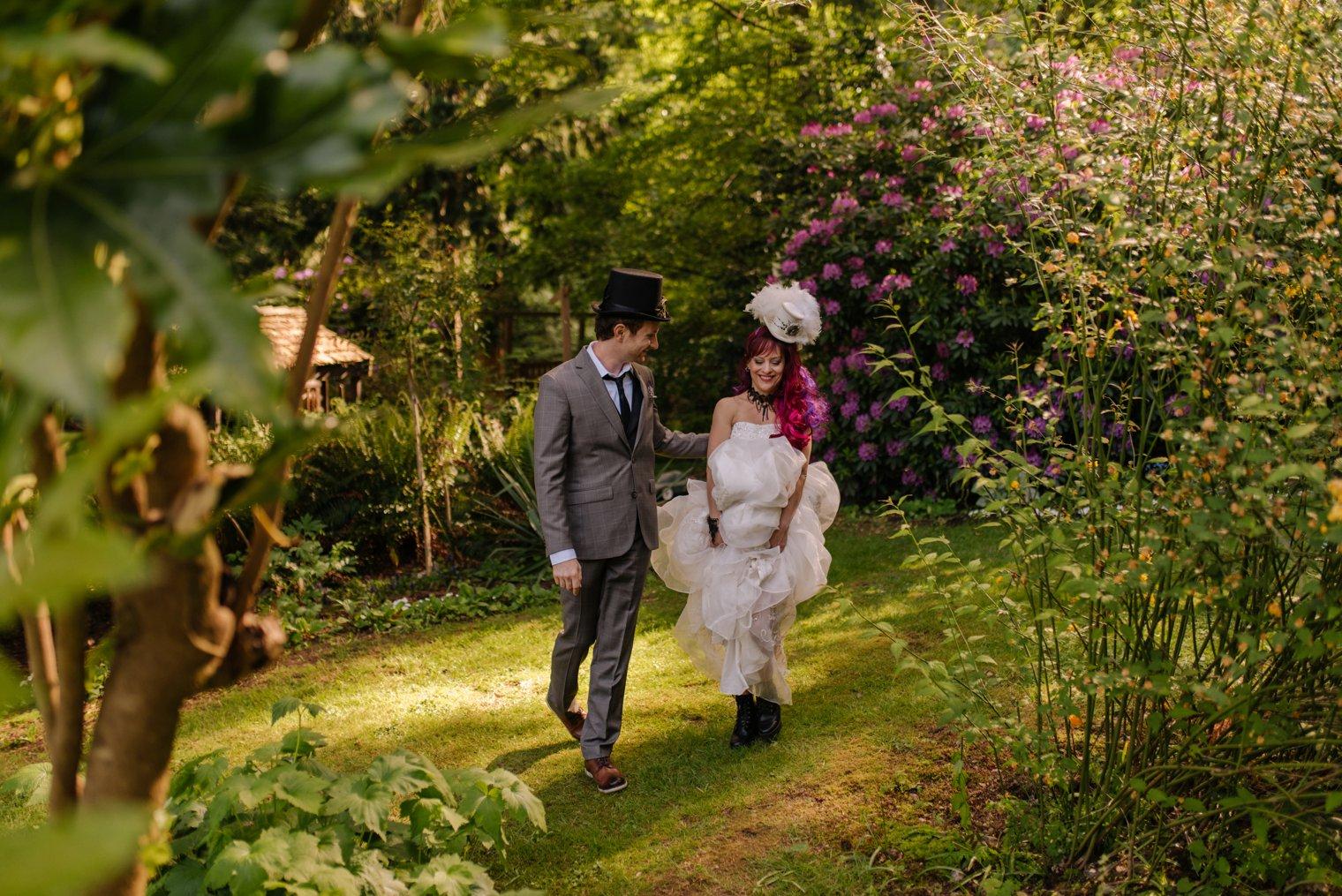 steampunk garden wedding