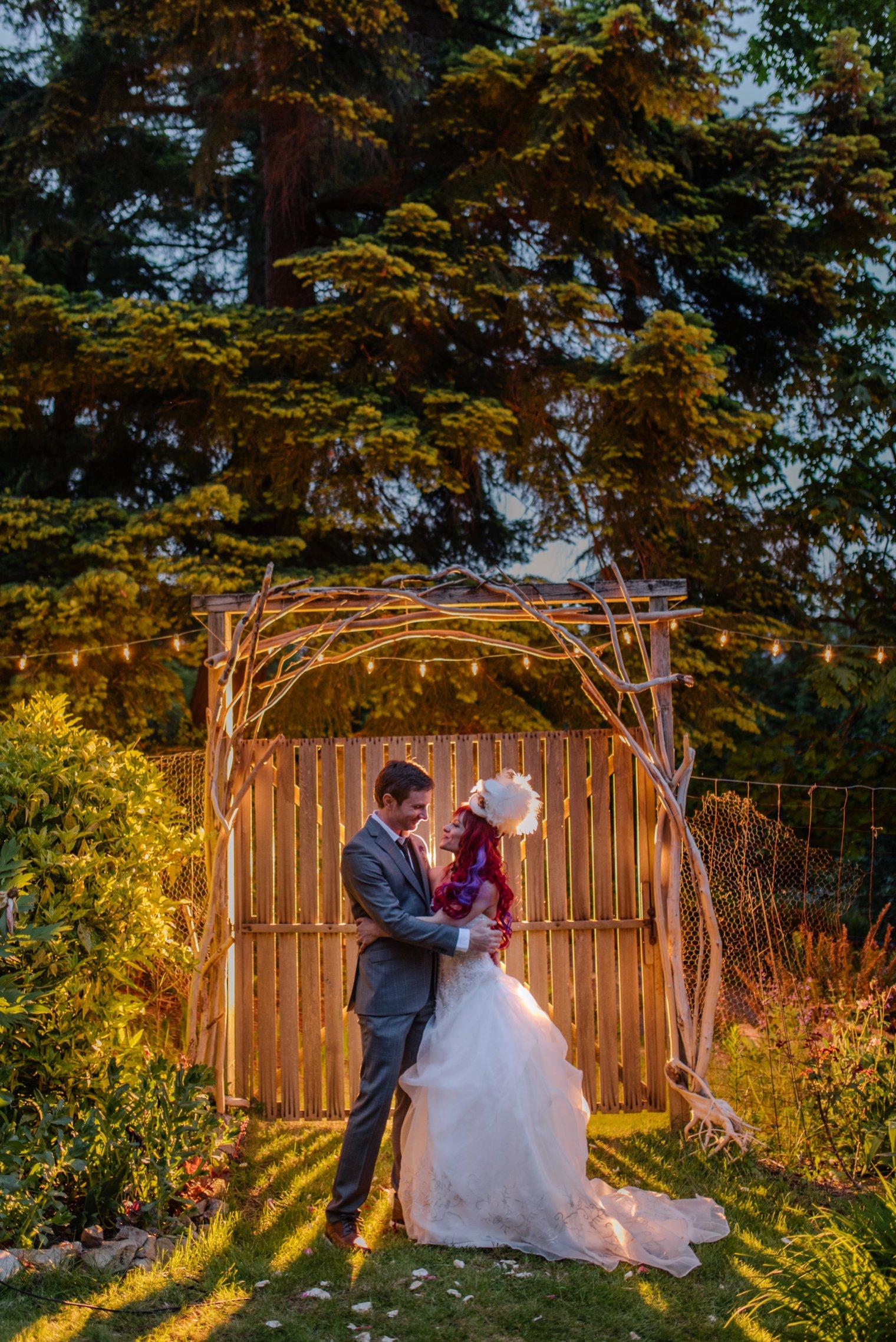 unique steampunk wedding photo