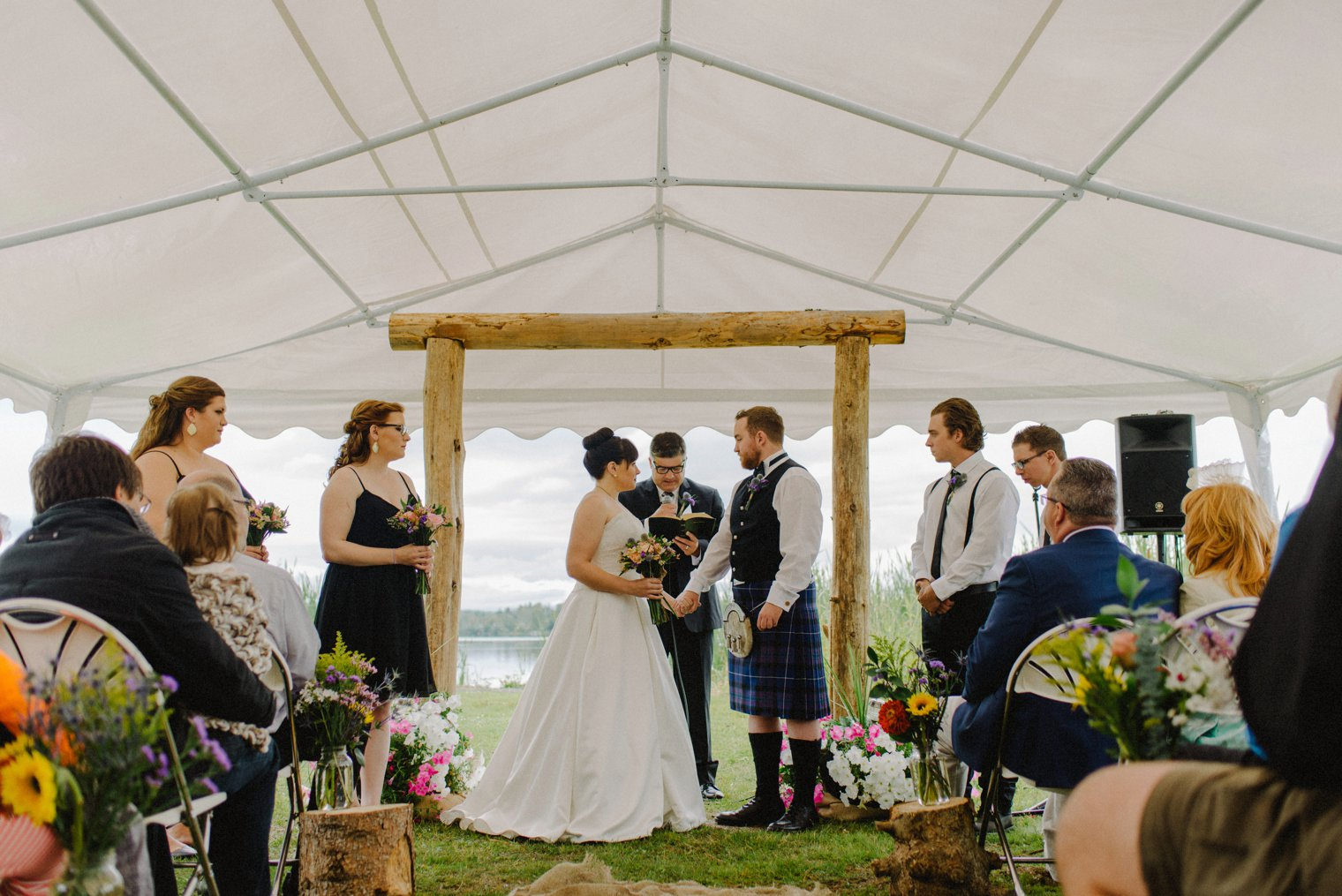 tent wedding in Quesnel