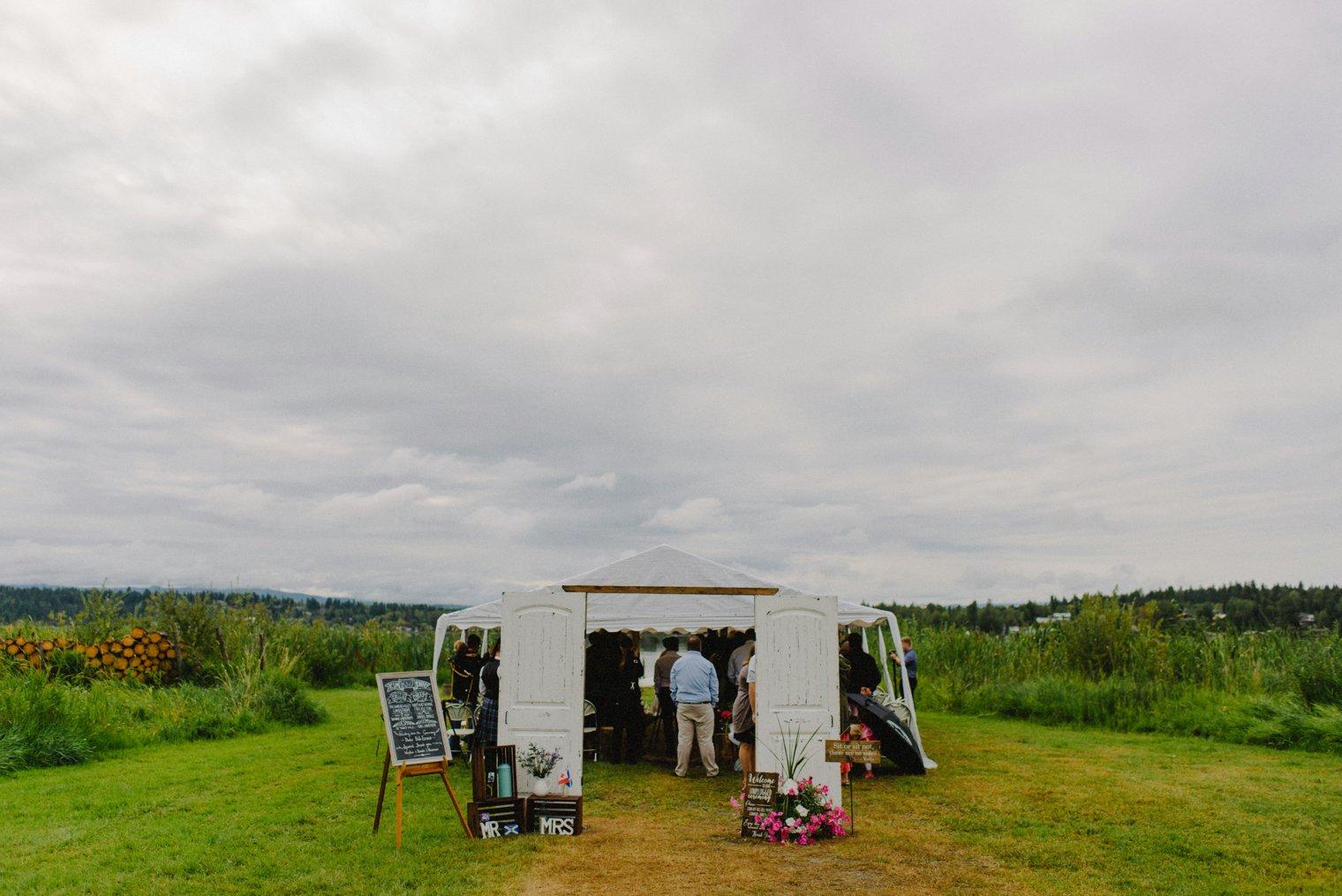 dragon lake wedding in Quesnel BC