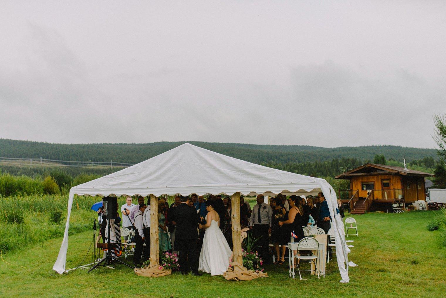 outdoor wedding in Quesnel