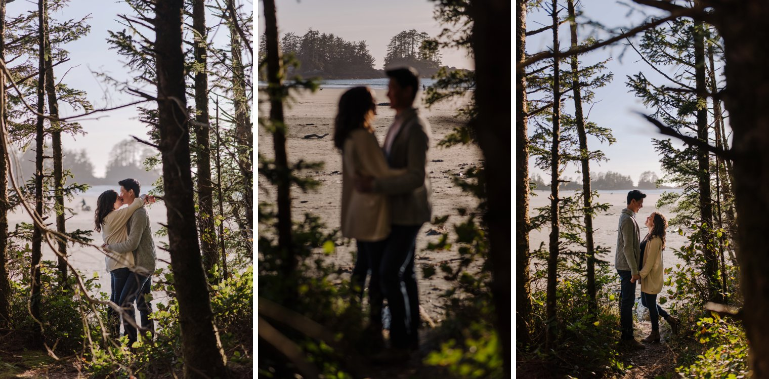 tofino forest engagement photos