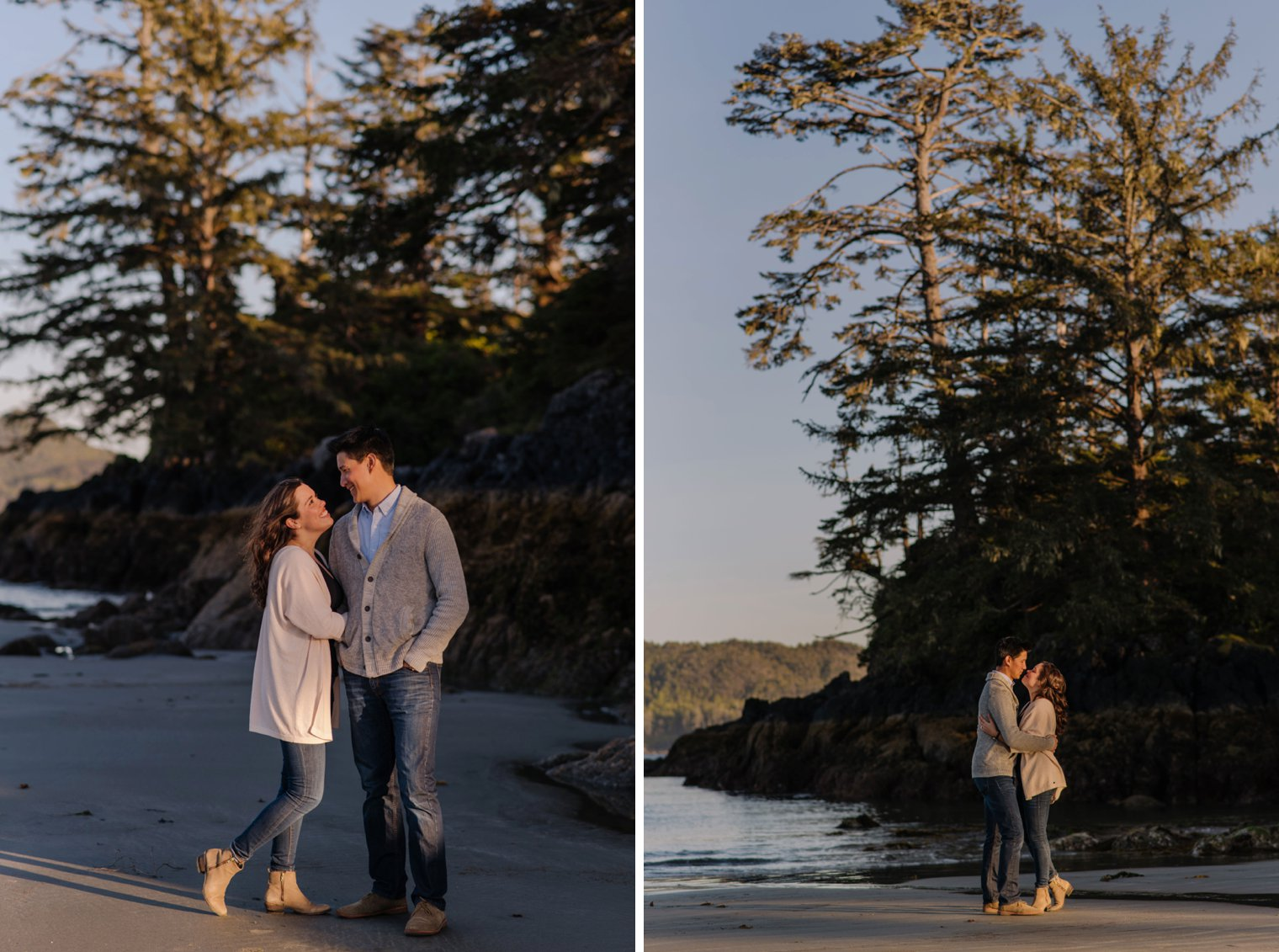 tofino beach engagement session