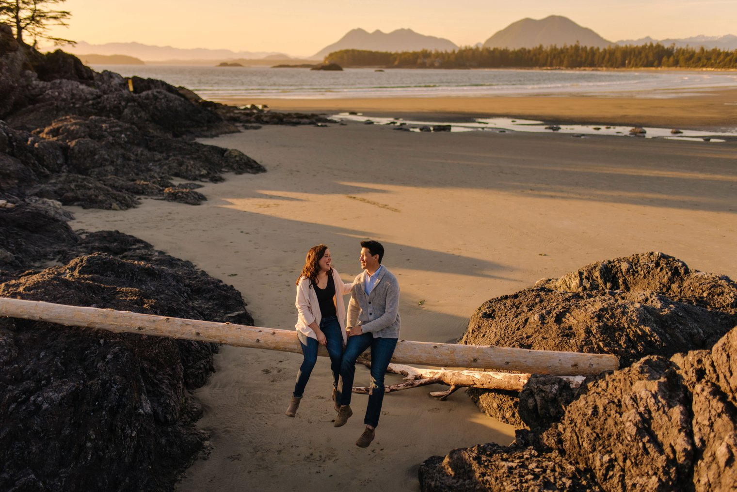 candid tofino engagement session