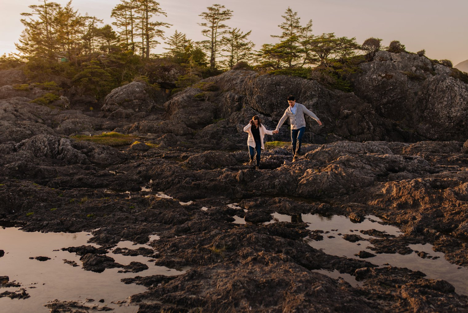 tofino engagement session on chesterman beach