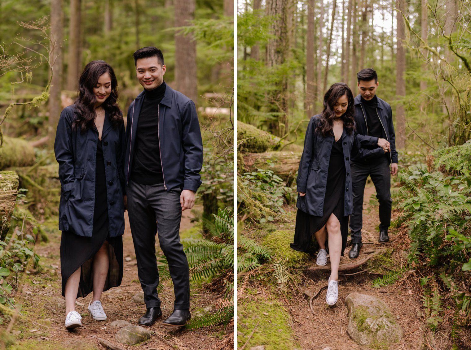north vancouver forest engagement photos