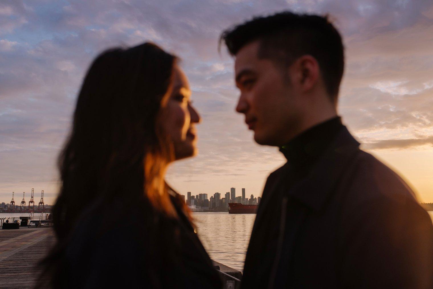 north vancouver pier engagement photos