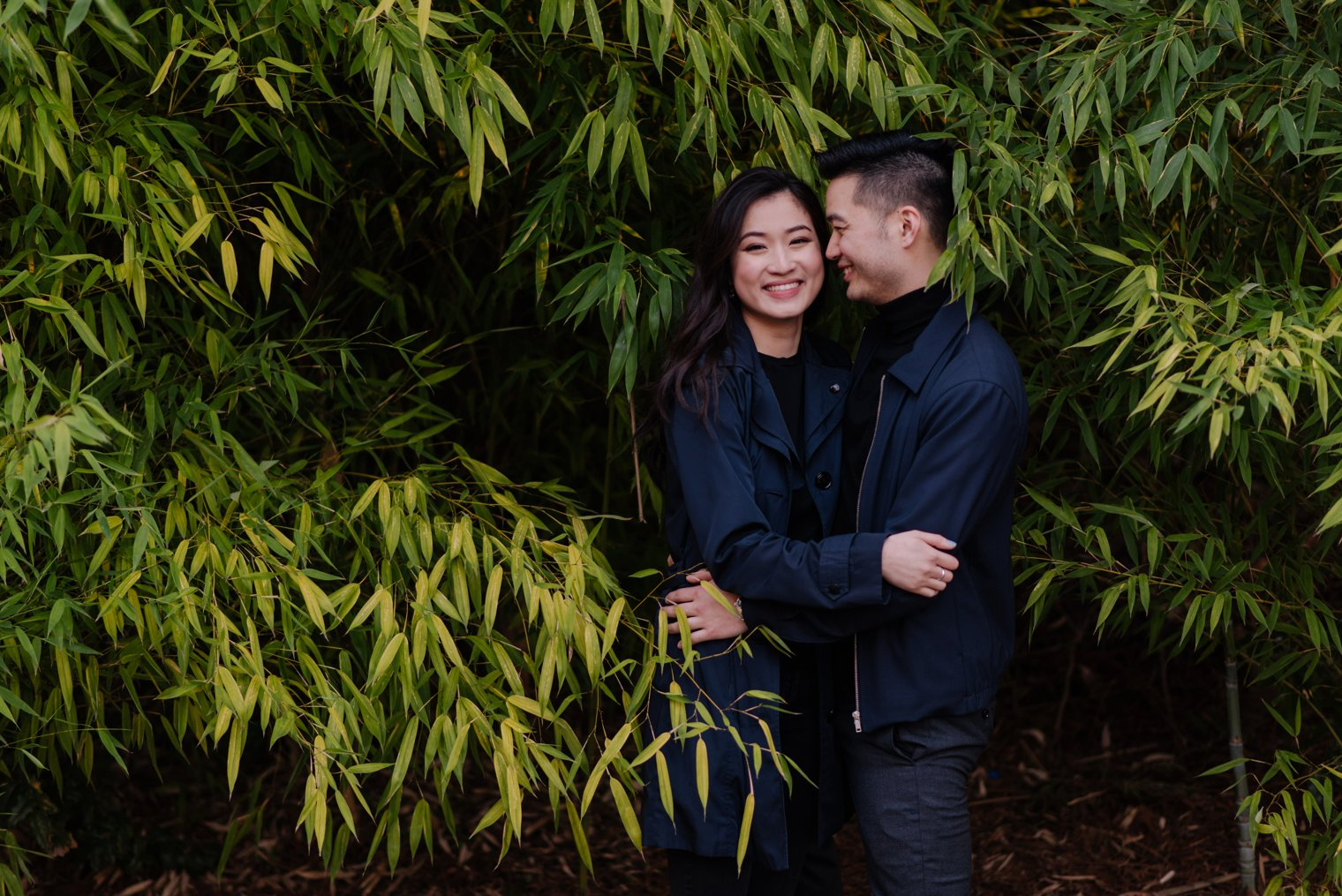 bamboo forest engagement photos