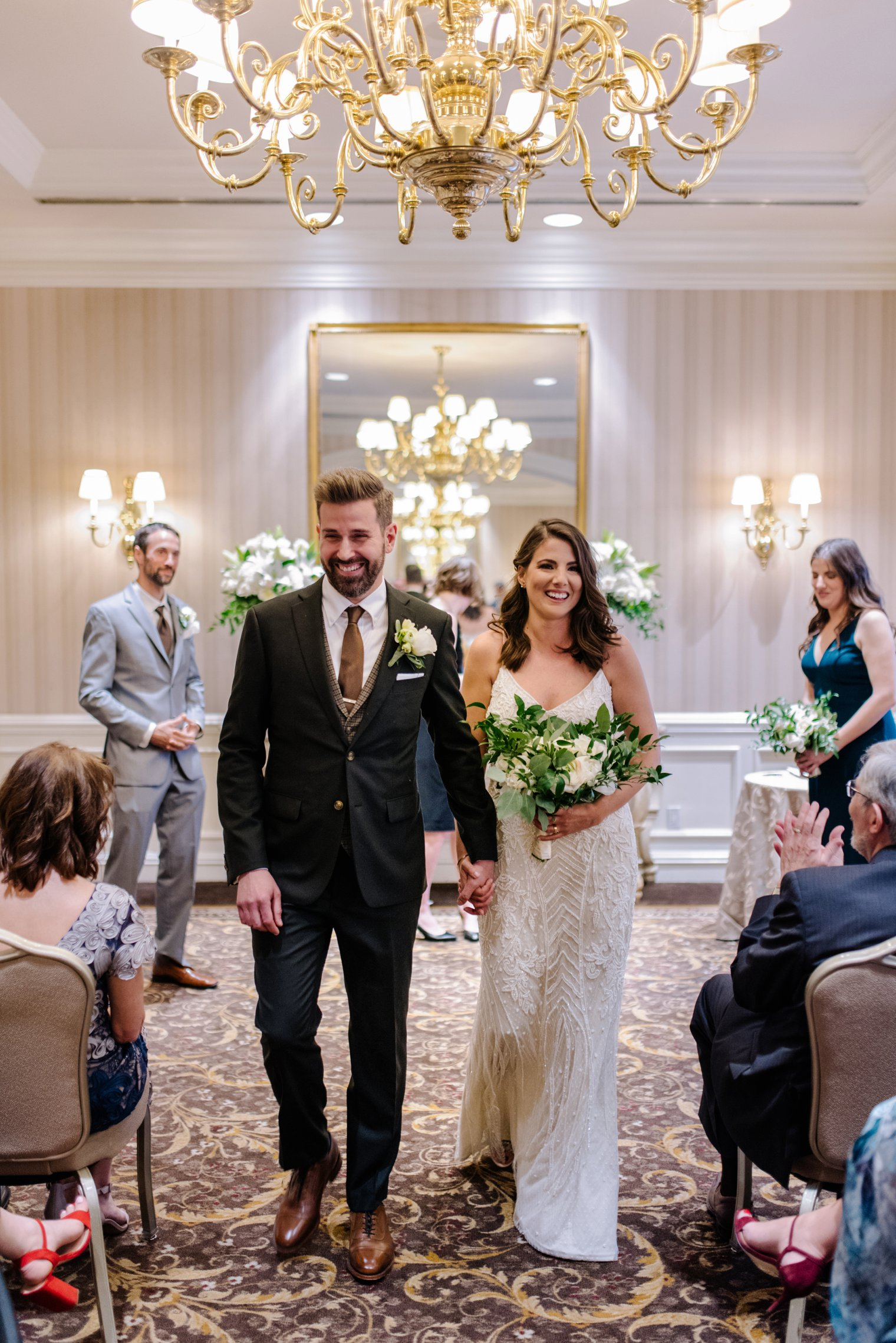 indoor wedding ceremony at sutton place hotel in vancouver