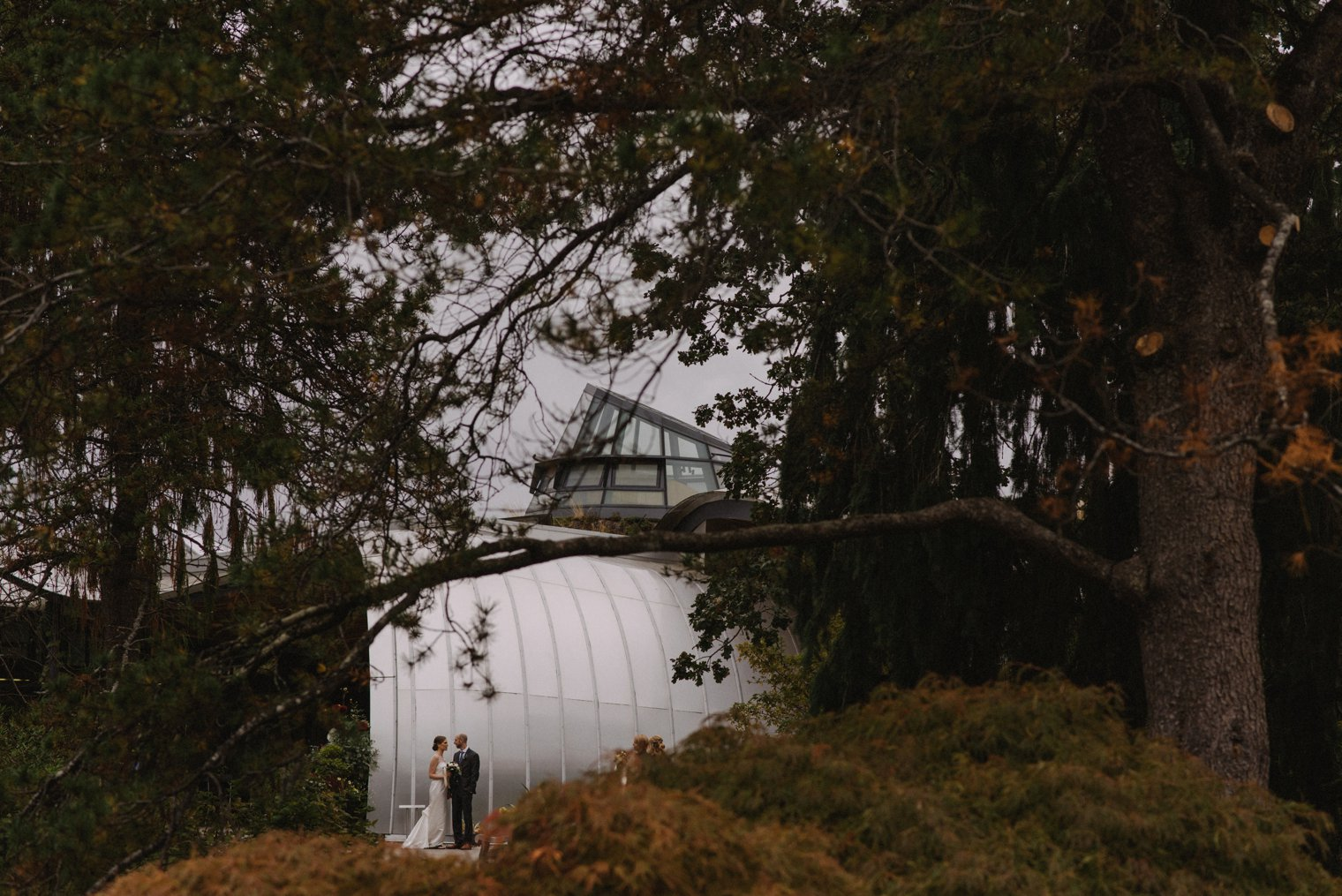 fall wedding at vandusen botanical garden
