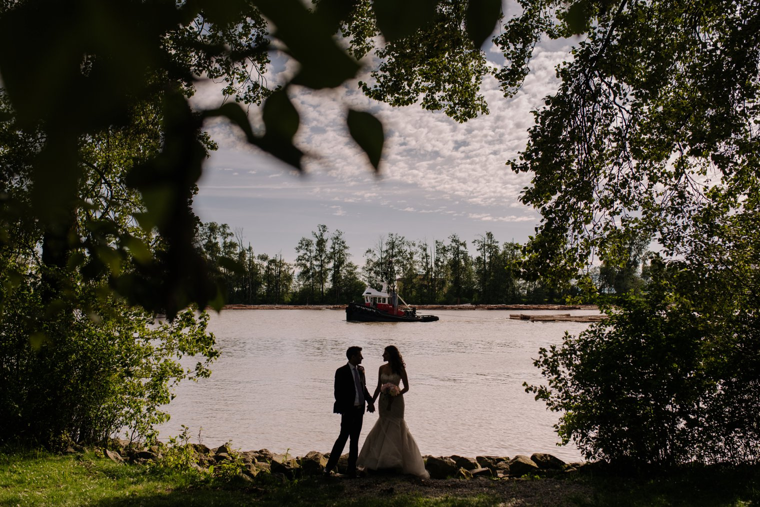 vancouver river wedding photos