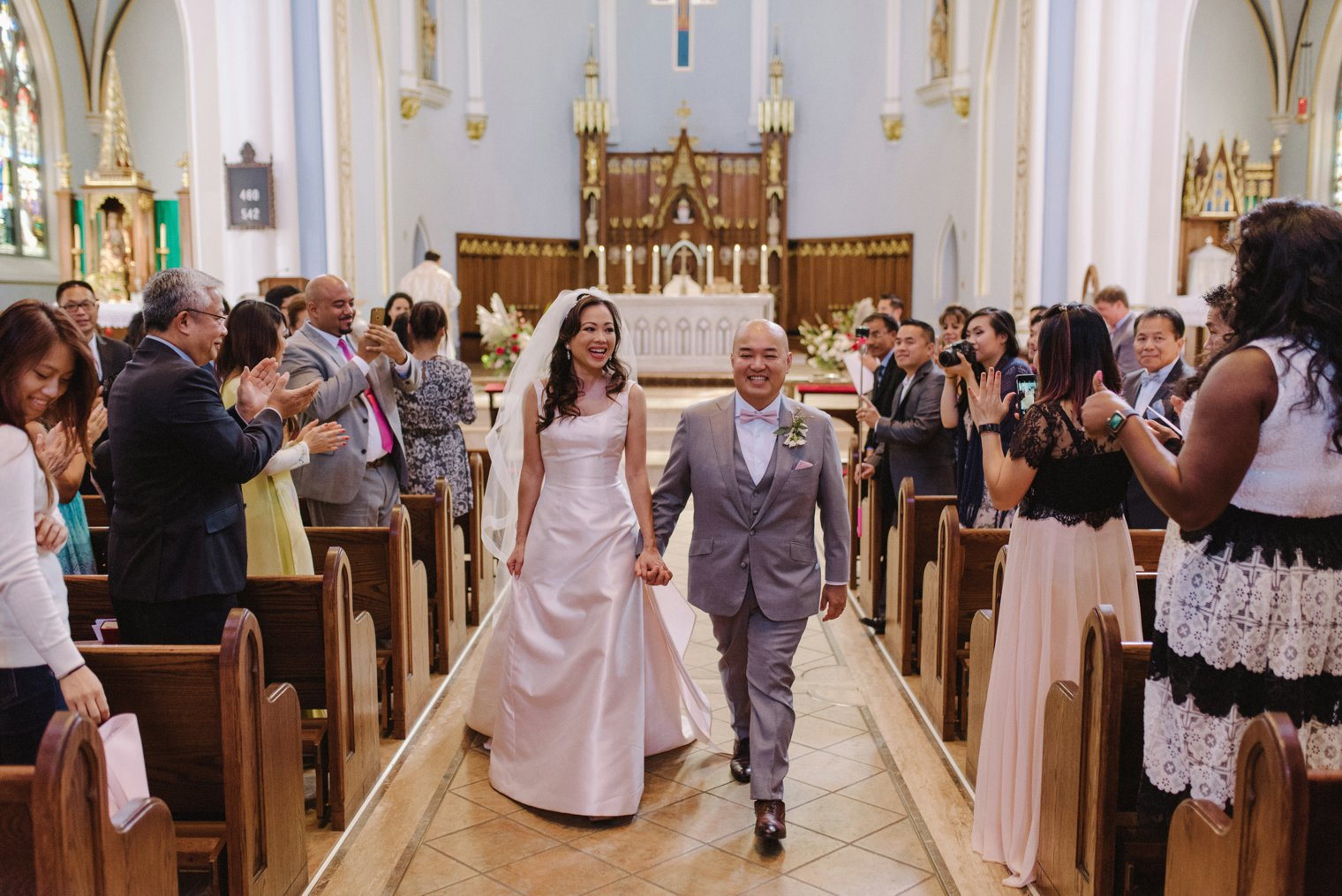 wedding ceremony at holy rosary cathedral in vancouver