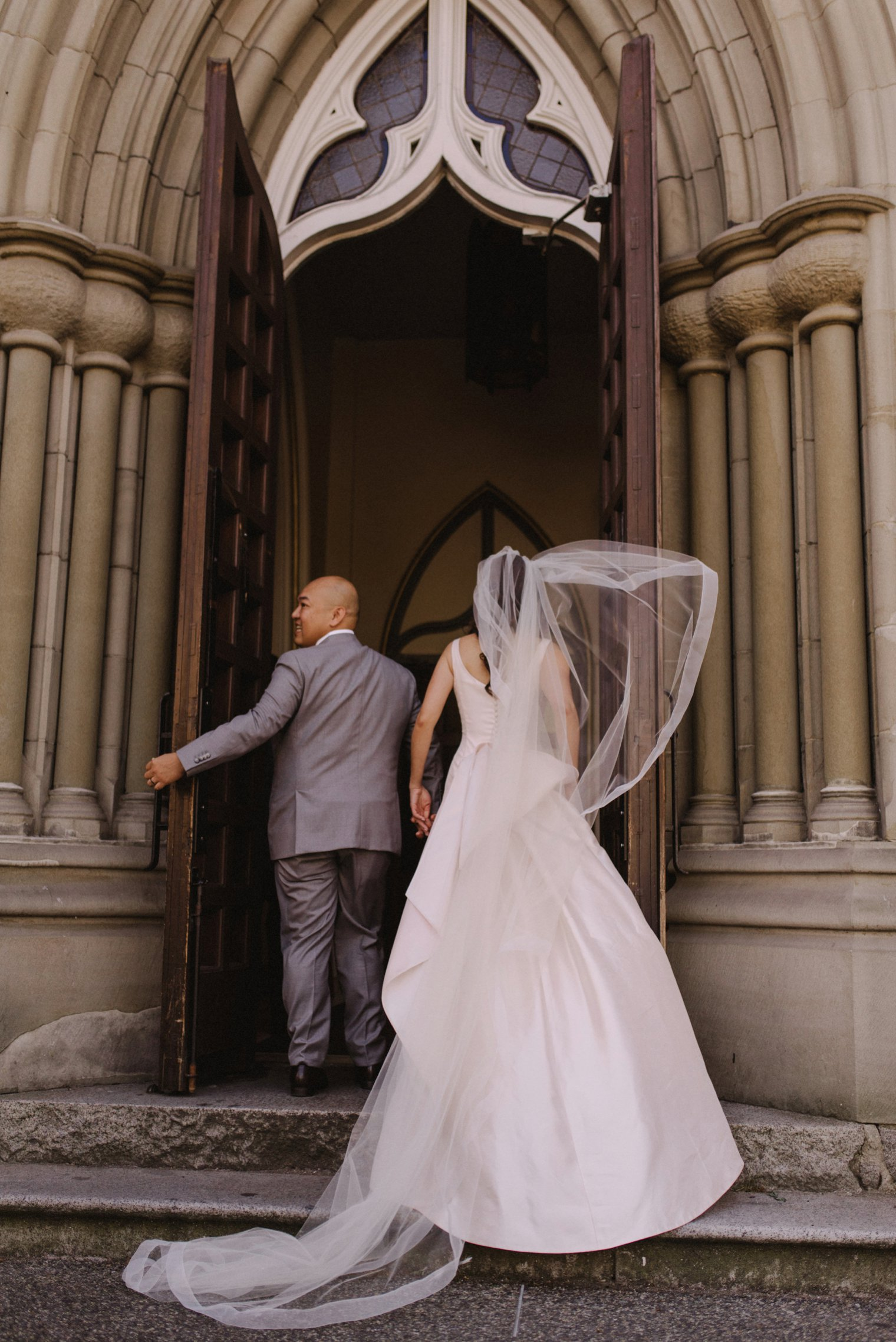 holy rosary cathedral wedding in vancouver