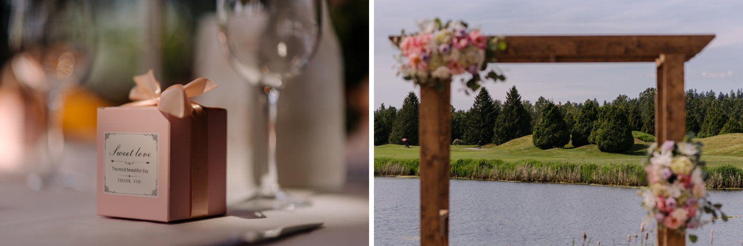 wedding details at riverway clubhouse in vancouver