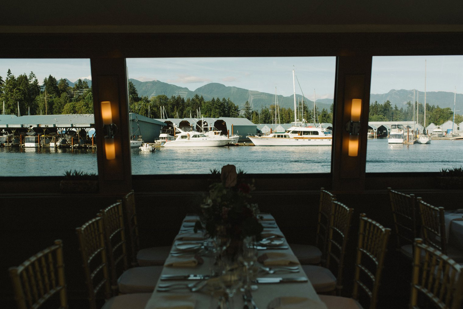 indoor wedding pacific yacht charters