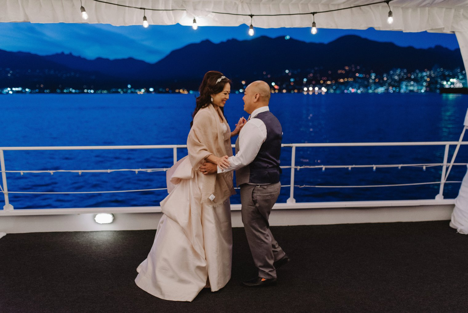 first dance on pacific yacht charters