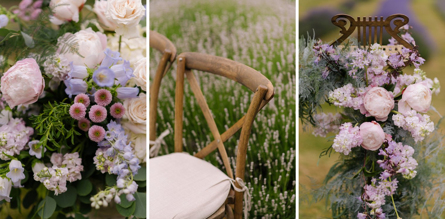 lavender farm wedding details