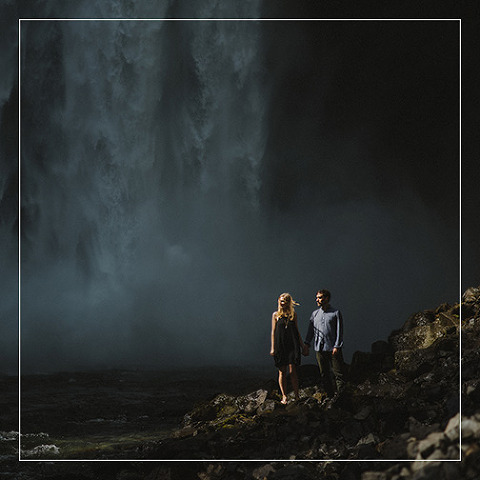 epic waterfall engagement photo by vancouver wedding photographer mathias fast